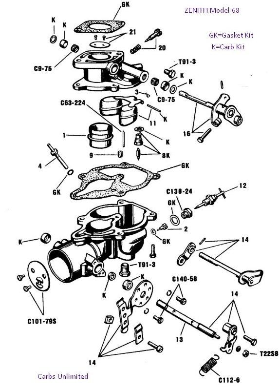 Diagram for Zenith model 68