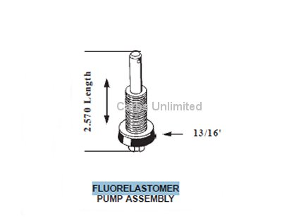 Pump Plunger Assembly FLUORELASTOMER