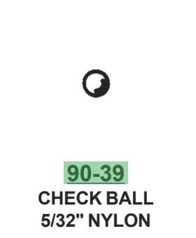 CHECK BALL 5/32 Nylon (bag of 10)
