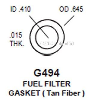 Gasket fuel filter gasket