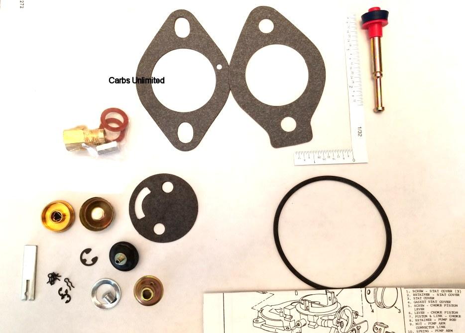 Carb Rebuild Kit - Carter 1 RBS