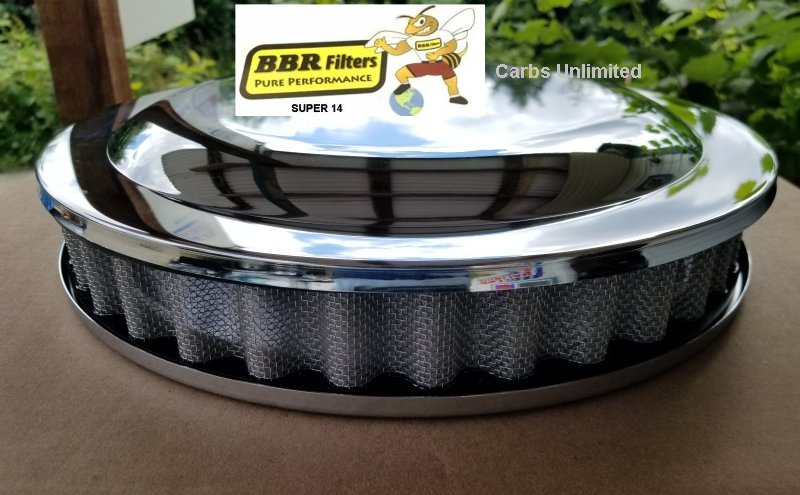 Bill B BBR 14 inch Stinger Race Filters BLACK (LIMITED)