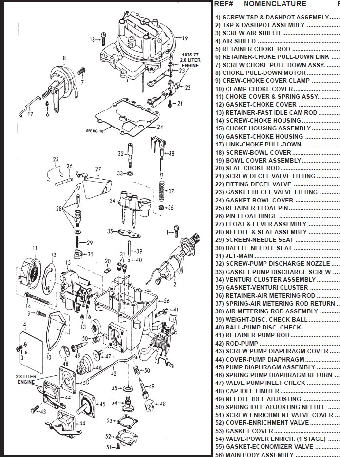 ford motorcraft 2100 2150 2 barrel carburetor parts page