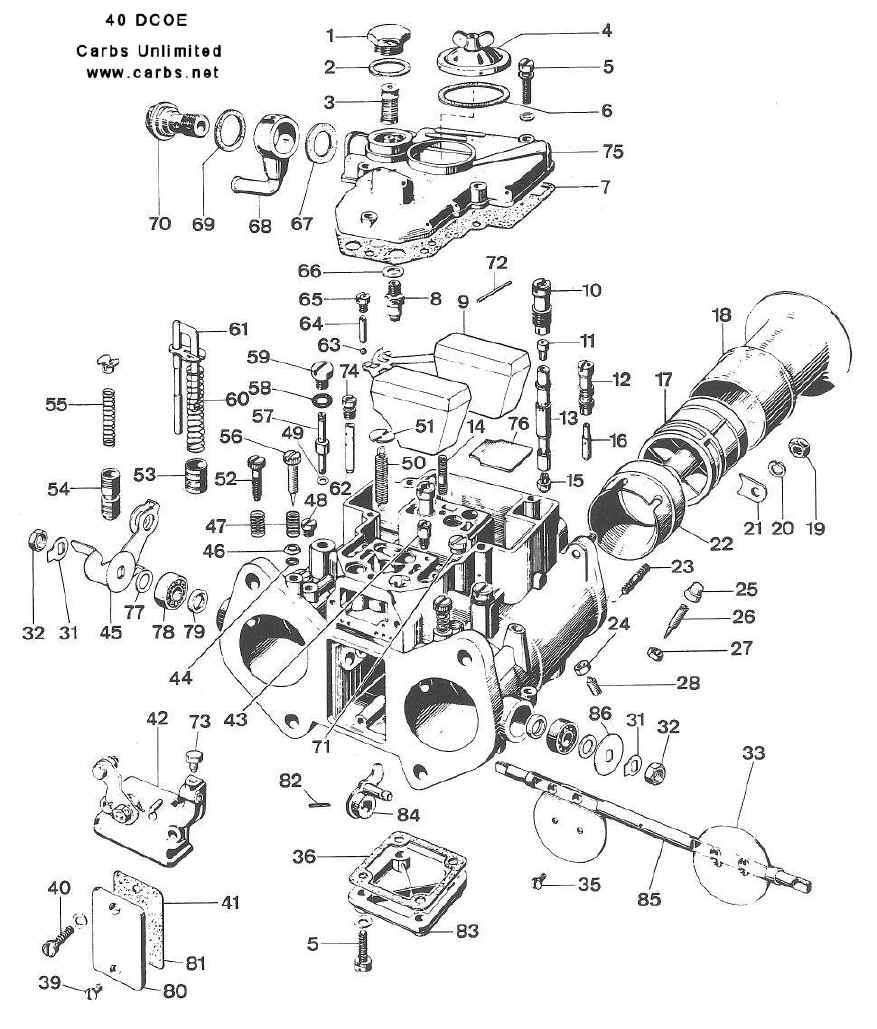 weber 40 dcoe 151 diagram rh carburetion com weber carburetor manual pdf weber carburetor manual choke