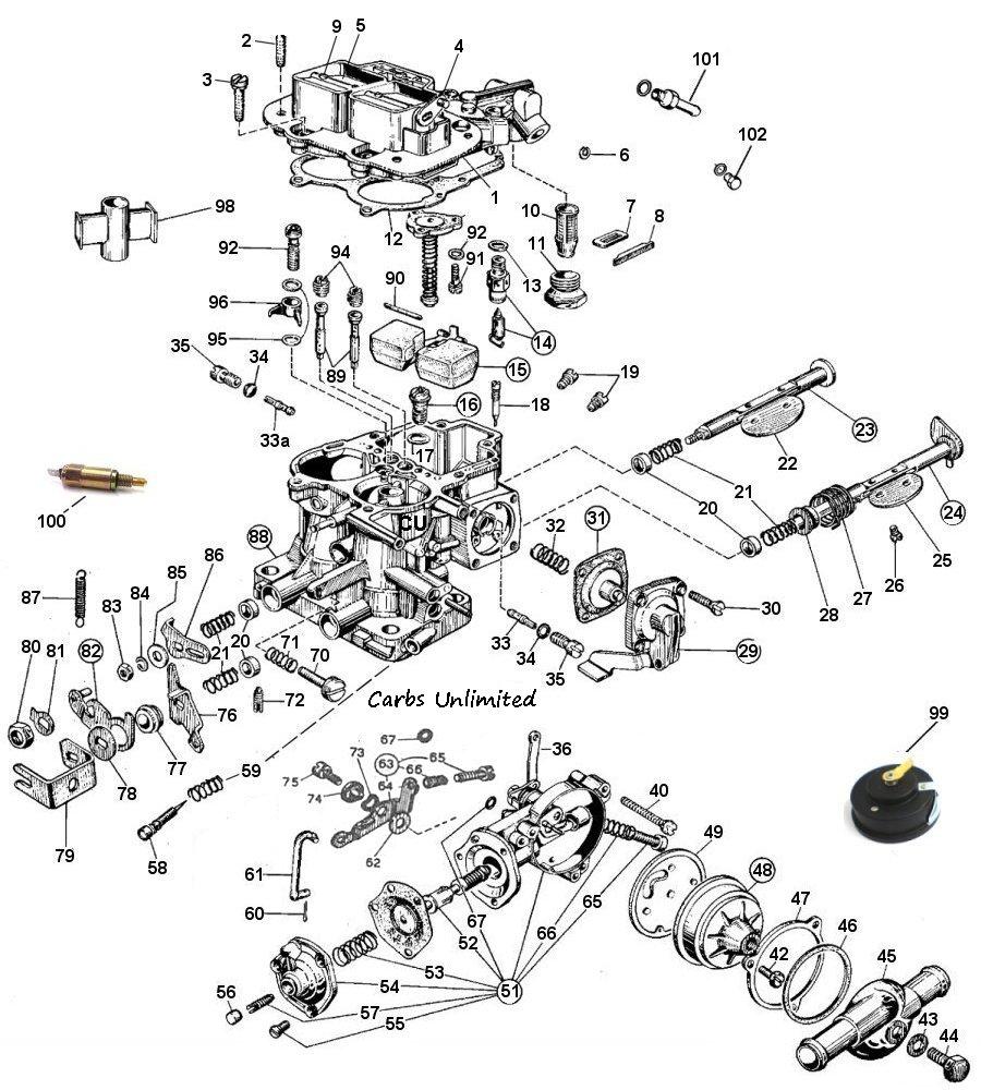 Weber 32/36 DGEV DGAV Diagram