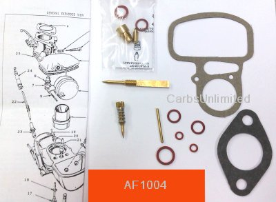 Classic Carburetor Kit - Zenith 124 1/2 B