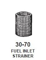 Fuel Inlet Strainer 27/64 ID