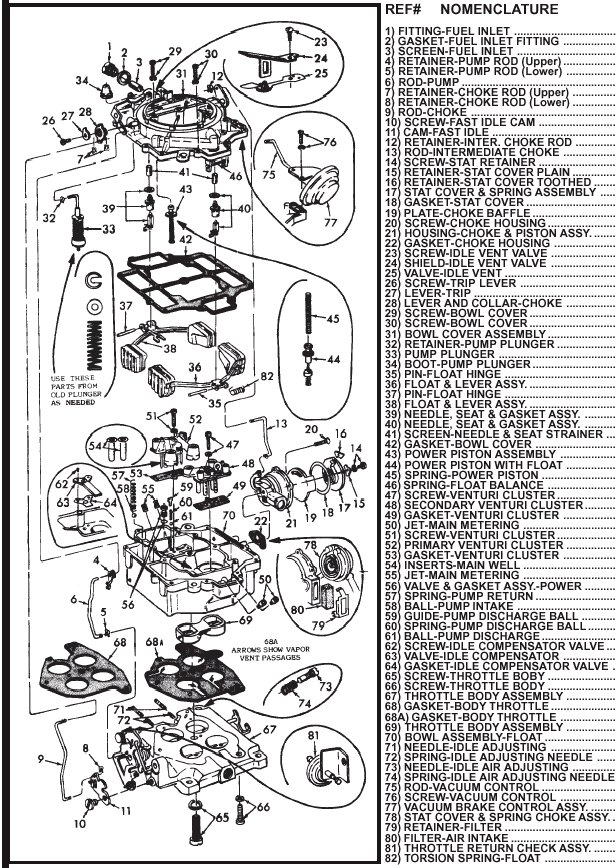 Jetdiagram on Carter Carburetor Diagram