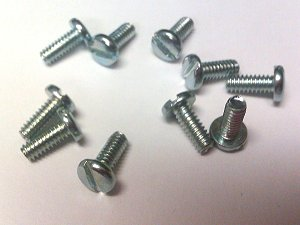 Screw 3-48x1/4 Slot Pan Head x10