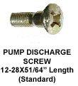 Pump Discharge Screw 12-28 thread