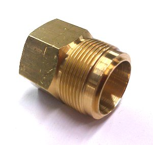 Brass Fuel Inlet Fitting 1in 20 threads Bottom Seal