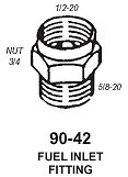 Fuel Inlet 5/8-1/2 20 Reducer