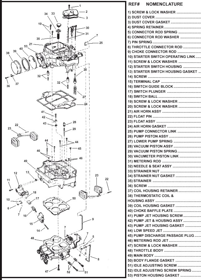 WCFB on jeep carburetor diagram