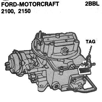 ford2 ford motorcraft autolite carb id Motorcraft 2150 Carburetor Identification at bayanpartner.co