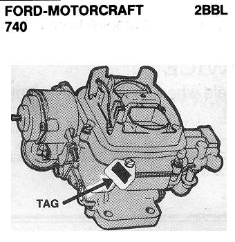 Ford Motorcraft Autolite Carb ID