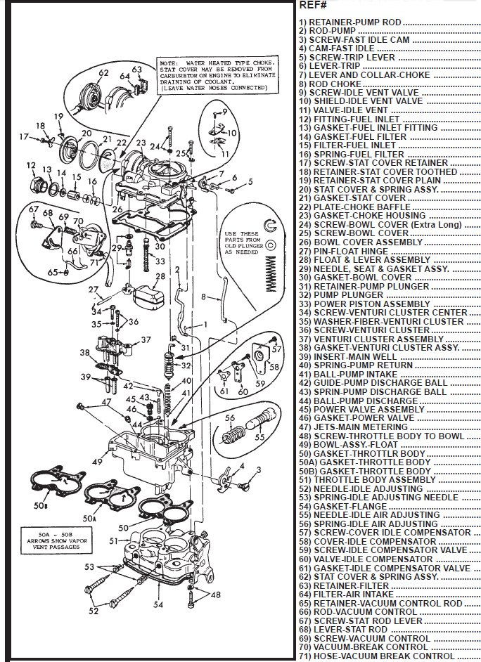 carter afb carburetor vacuum diagram