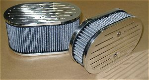 DCOE Polished Billet  Air Filter 2 1/2 Tall
